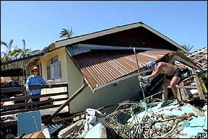 Damaged home on Niue