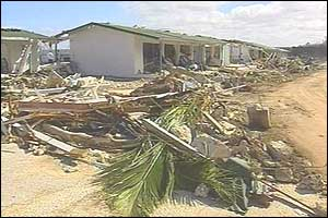 Niue street after the cyclone