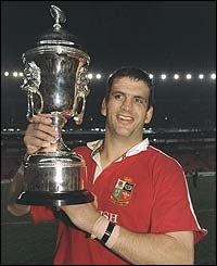 Johnson leads the British and Irish Lions to success in South Africa in 1997