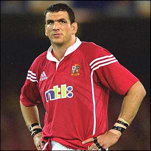 Martin Johnson shows his disappointment after the Lions are beaten by Australia