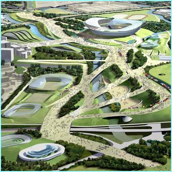 This is what the Olympic park in east London would look like. Pretty impressive, eh?