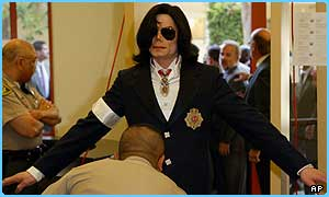 Michael Jackson has appeared in a US court