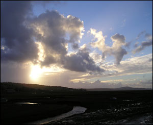 Dramatic clouds from Crofty in north Gower looking towards the Burry Inlet (Anthony Phillips)