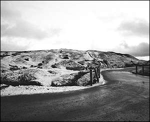 Bleak conditions on the drive from Rassau to Llangynidr, taken by Ryan Dodgson, who is originally from Blackwood