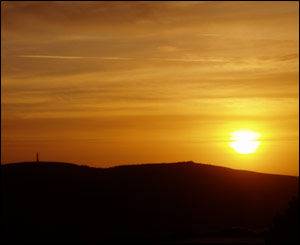 Natalie Gray, a student at Aberystwyth University, captured this lovely sunset over Pen Dinas