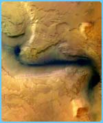 This Mars Express image shows where a river once existed