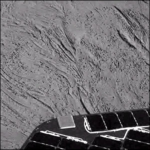 Patterns made in the Martian soil by Opportunity's airbags