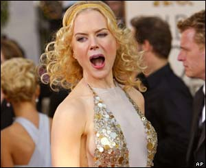Nicole Kidman was in joyous mood as she arrived on the red carpet.