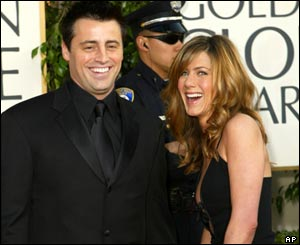 Nominated for best comedy actor Matt LeBlanc brought Friends' co-star Jennifer Aniston to the awards.