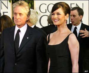 Catherine Zeta Jones and Michael Douglas were on hand to say hello.