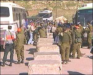 Palestinians being released