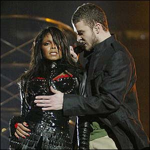 Janet Jackson at 2004 super bowl