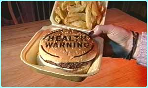 Warning - bugers could be served up with written health warnings
