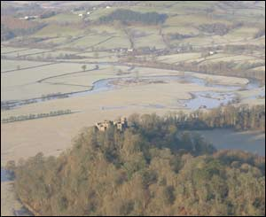Taken from a hot air balloon over Carmarthen on a recent cold Sunday morning (W Hicks)