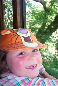 William Poucher's foster daughter enjoying the train at Tal-y-lyn in mid Wales