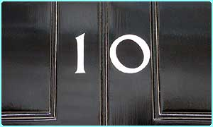 Number 10 Downing Street - the security services help the Government