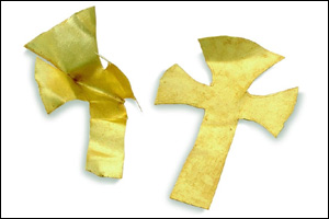 Gold foil crosses