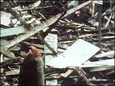 Wreckage of McGurk's bar