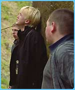 Malfoy gets into trouble in the third film