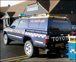 The coastguard vehicle and trailer