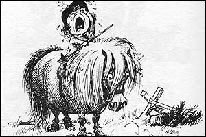 Norman Thelwell cartoon. All illustrations copyright The Estate of Norman Thelwell.  Reproduced by permission of Momentum Licensing