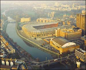Marc Lamerton took this aerial shot of the old Cardiff Arms Park and Empire Pool from a helicopter in 1995