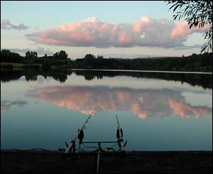 An anglers view of the Fendrod lake in Swansea early in the morning (Gareth Seymour from Swansea)
