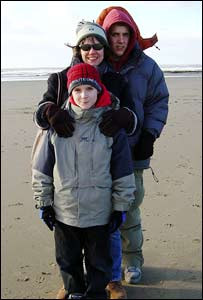 John Parker sent in this image of his family at Southerndown beach