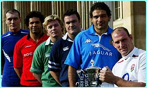 The captains of the Six Nations teams