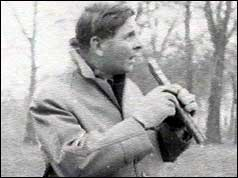 John Timpson with Ethiopian bird pipe
