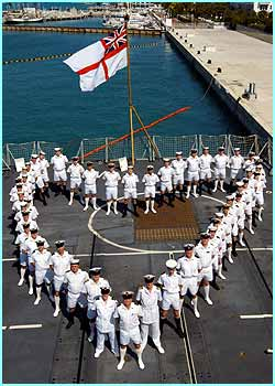 And the crew of HMS Monmouth, currently moored in the Caribbean, formed a heart on the ships flight deck as a Valentines Day message for their loved ones back home