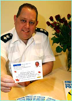 Police in Sutton are sending 25 known criminals in the area a Valentines card - but not because they love them! It's to point out the risks they run if they commit more crimes, in a new campaign to ma