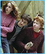 Hermione, Harry and Ron in the Prisoner of Azkaban