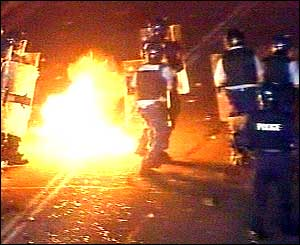 Police during the riots