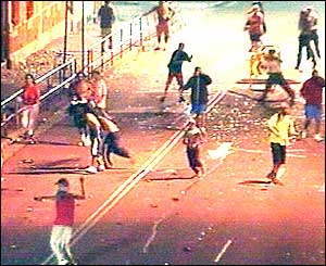 Rioters in Redfern