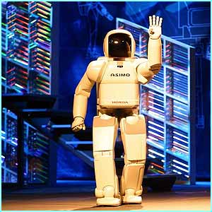 Hi! I'm Asimo the robot. My name stands for Advanced Step in Innovative Mobility.