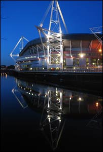 The Millennium Stadium taken on a cold February evening by Marc White from Swansea