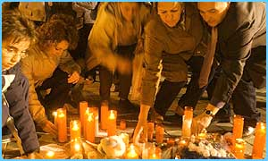 People light candles for the dead