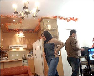An Iranian couple at home