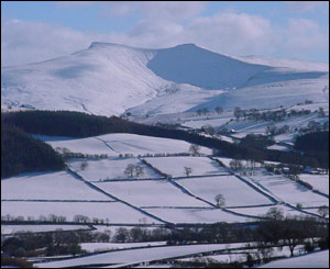 Rob Stephens from Brecon sent this picture of the snowy Brecon Beacons
