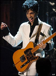 Prince at the Rock and Roll Hall of Fame ceremony