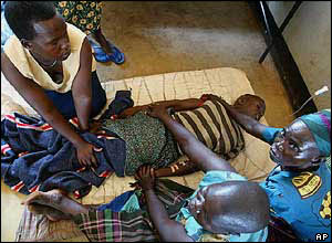 boy in uganda hospital
