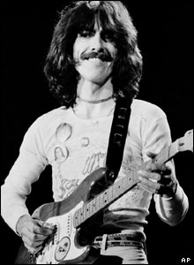 George Harrison performing in 1974