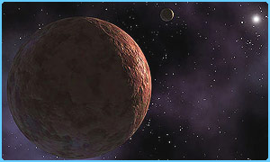 Sedna is the second reddest object in the Solar System. Image courtesy:  Nasa/JPL-Caltech/Hunt