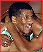 One of Jordan's fave athletes Haile Gebrselassie