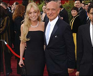 Sir Ben Kingsley and wife Alexandra Christmann