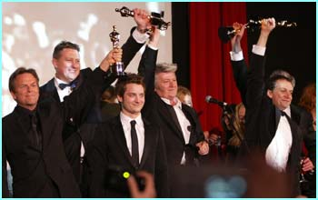 Rings cast and crew members with a few of the film's many awards!