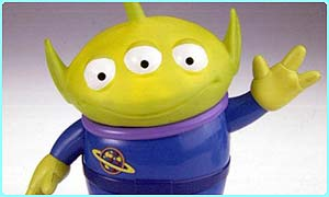 Alien merchandise from Toy Story 2