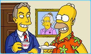 Tony Blair and Homer Simpson