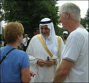 Prince Turki doing the rounds at the event - he said the exercise had been a  success